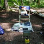 大峰高原(七色大カエデで有名)でピクニック
