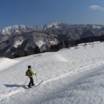 紙すき山牧場偵察(2/20)と小谷の里山(2/21)【テレマークスキーBC】